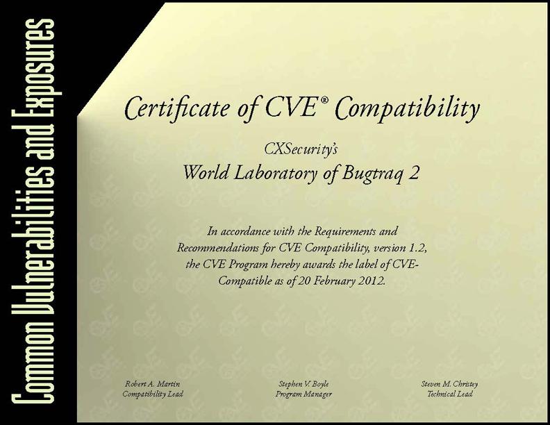 CVE COMP